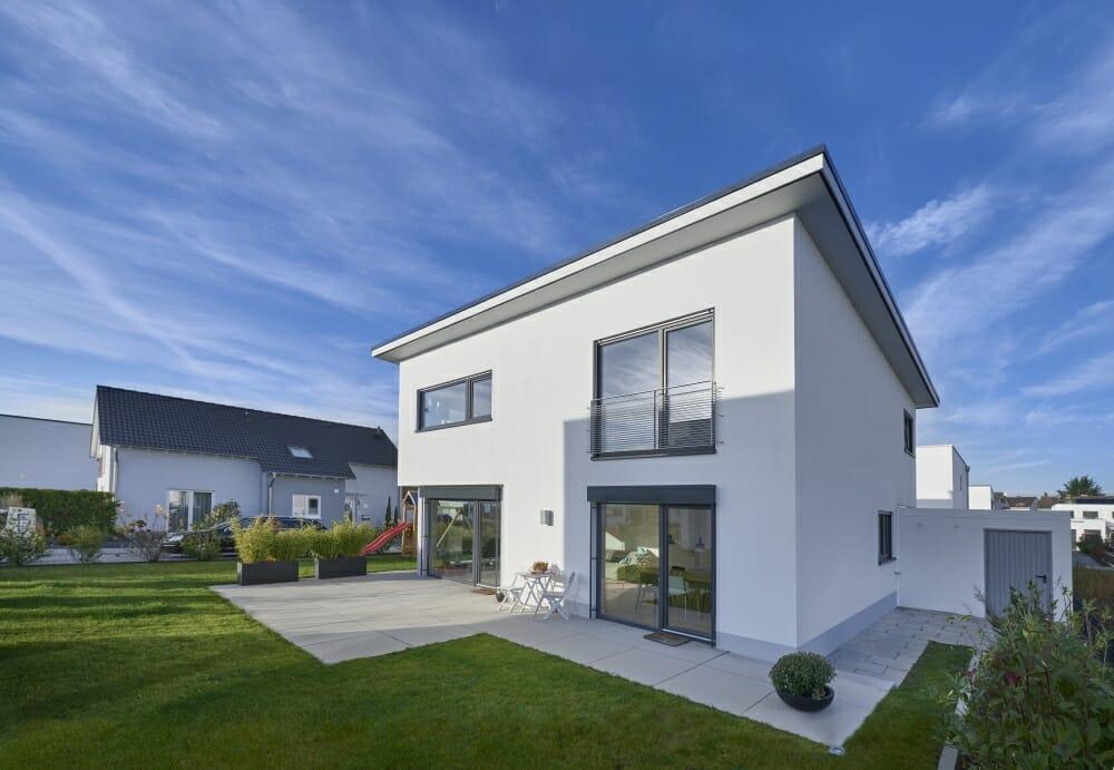 modernes Einfamilienhaus in Koblenz, gebaut von der Firma cobau.