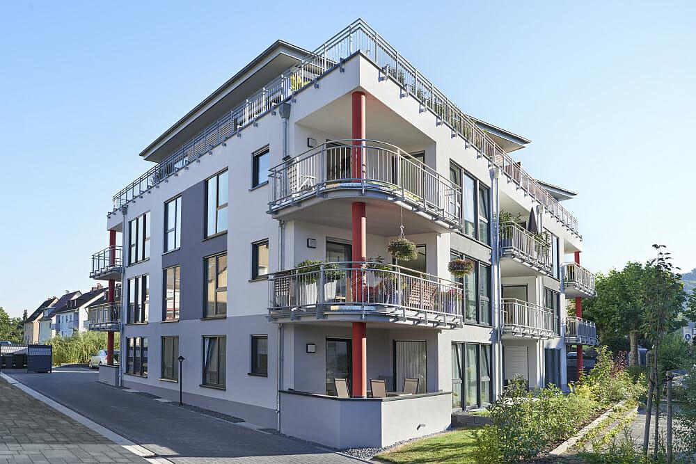 Modernes Mehrfamilienhaus in Lahnstein gebaut in Koblenz.