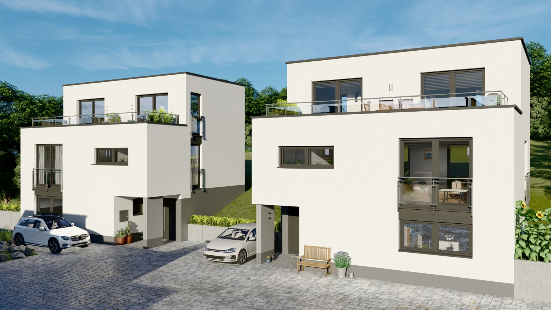 Modernes Einfamilienhaus nach Architektenplan in Koblenz gebaut von der cobau.